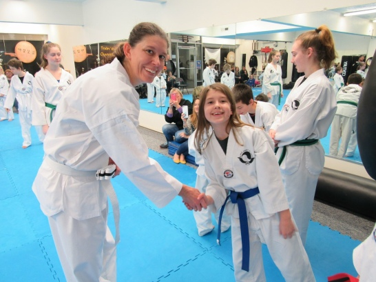 My first belt test with my daughter