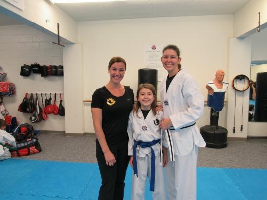Taekwondo with my daughter and Master Jobin